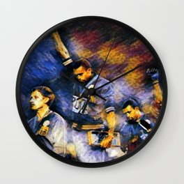 African American Classic Tommie Smith and John Carlos Black Power Olympic Protest Portrait Wall Clock