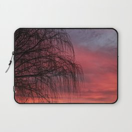 Willow Tree Sunset Laptop Sleeve