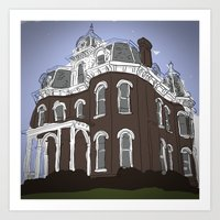 Scary Mansion Art Print