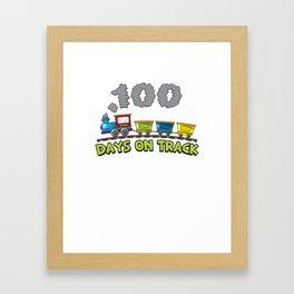 100 Days On Track Gift Framed Art Print