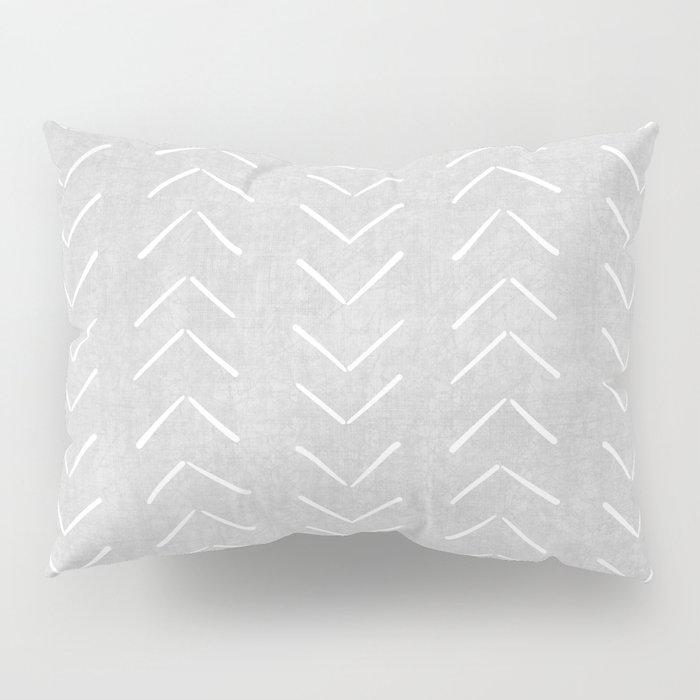 Mudcloth Big Arrows in Grey Pillow Sham