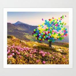 When Balloon Bloom Art Print