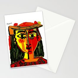 Pablo Picasso Woman In A Hat 1962 T Shirt, Artwork, tshirt, tee, jersey, poster, artwork Stationery Cards