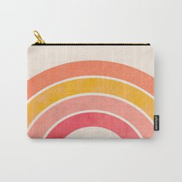 Whimsical Vintage Rainbow Waves Carry-All Pouch