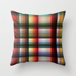 Mujina - Colorful Decorative Abstract Art Pattern Throw Pillow