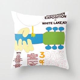 aquarian exposition Throw Pillow