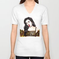 charli xcx V-neck T-shirts featuring CHARLI XCX II: SUCKER by Share_Shop