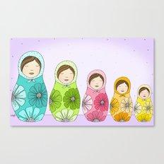 Sweet Little Matryoshkas Canvas Print