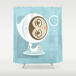 Rocket Girl Shower Curtain