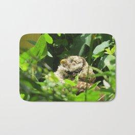 Sunbathing Barred Owl Bath Mat