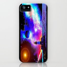 Lighthouse to the stars iPhone Case