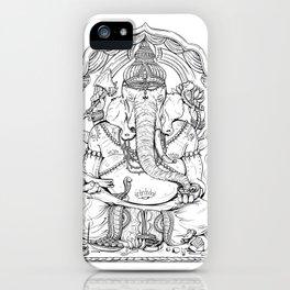 Ganesha Lineart iPhone Case