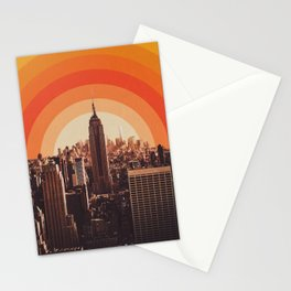 Sunset in New York City Stationery Cards