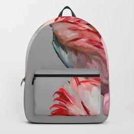 Sleeping Flamingo (grey) Backpack