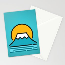 Fuji Montain Blue Stationery Cards