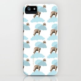 Giraff in the clouds . Joy in the clouds collection iPhone Case
