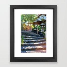 Japanese Tea Garden Stairs Framed Art Print