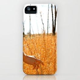 Hands Through Gold iPhone Case