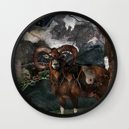 Aries the Ram Wall Clock