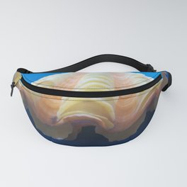 orange shell in blue cloth Fanny Pack