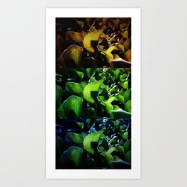 FRICTION BETWEEN THE CONTRAST Art Print