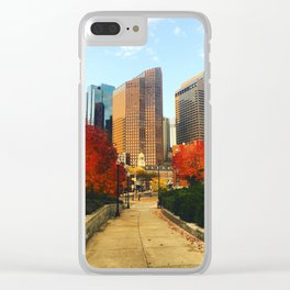 Boston: Follow Me into the Fall Clear iPhone Case