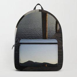 derwentwater jetty sunset Backpack