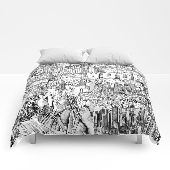 urban collage Comforters