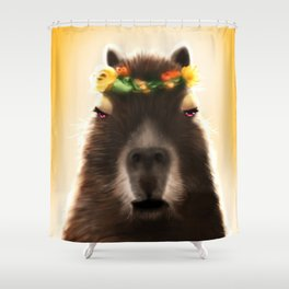 Capybara Shining Shower Curtain