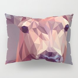 Colorful Polygons Abstract Deer Pillow Sham
