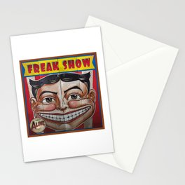 Freak Show- Funny Face Stationery Cards