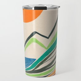Landscape in many colours and lines Travel Mug