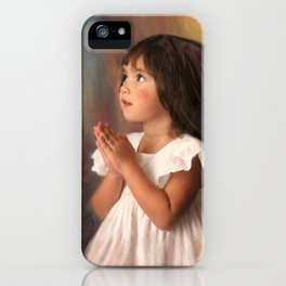 Precious child praying iPhone Case
