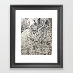 Charlene the Creator Taking a Poo Framed Art Print
