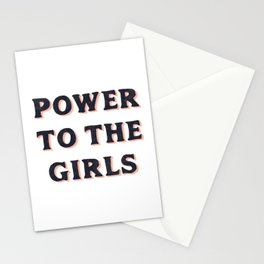 Power To The Girls Stationery Cards