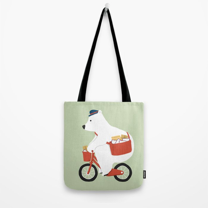 Polar bear postal express Tote Bag
