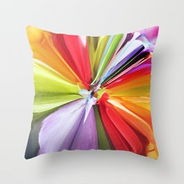 377 = Abstract Flower Design Throw Pillow