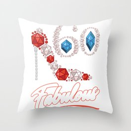 60th Birthday Women HIgh Heel printed gift    Throw Pillow