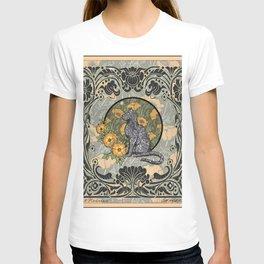 Cat Nouveau T-shirt