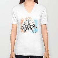 boss V-neck T-shirts featuring Last Boss by MeleeNinja