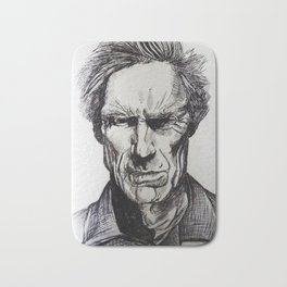 Clint Eastwood Pen portrait Bath Mat