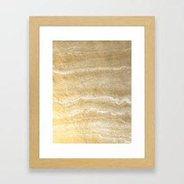 Marble motion - gold Framed Art Print
