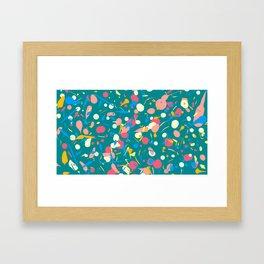 Paint splashes Framed Art Print