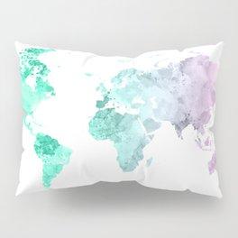 World Map Watercolor #2 Pillow Sham