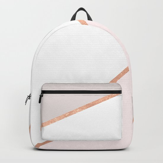 GEO ROSEGOLD PASTEL Backpack