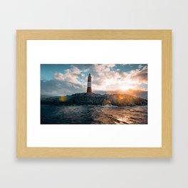 Faro del Fin del Mundo (Faro Les Eclaireurs) II Framed Art Print