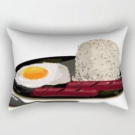 Hotsilog (hotdog, egg, fried rice) -filipino food Rectangular Pillow