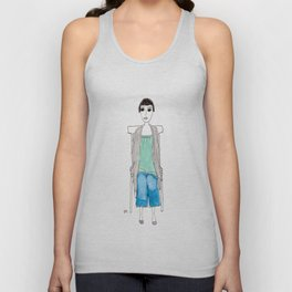 girl in another chair Unisex Tank Top