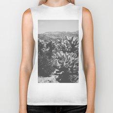 Chollo Cactus Garden (Black + White) Biker Tank