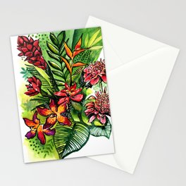 Tropical flower Stationery Cards